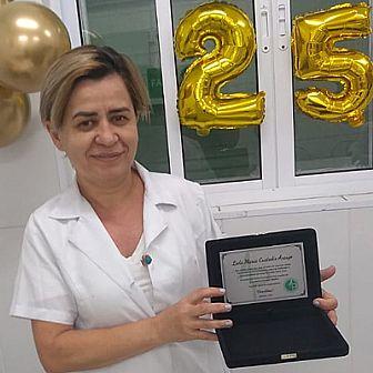 Leda Maria, 25 anos de empresa